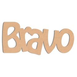 Mot - Bravo Mot en bois brut