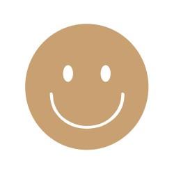 Divers - Smiley content  Mot en bois brut