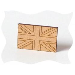tourisme - vacances - voyages - Drapeau anglais en bois brut
