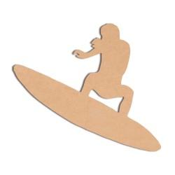 Mer -  Surfeur bois brut