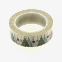 Masking Tape Sapins verts - 15 mm x 10 m