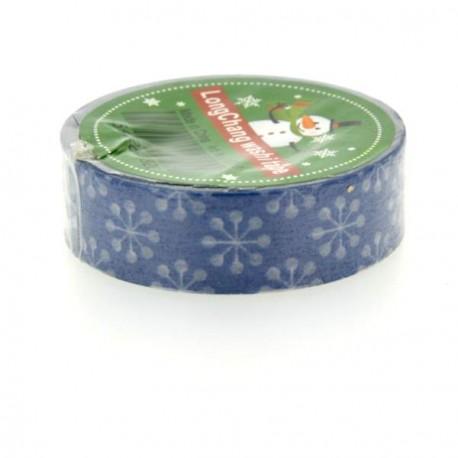 Masking Tape Flocons bleus - 15 mm x 10 m