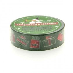 Masking Tape Cadeaux verts - 15 mm x 10 m