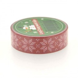 Masking Tape Flocons rouges - 15 mm x 10 m