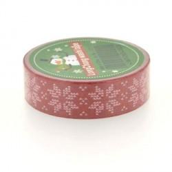 Masking Tape Flocons rouges - 15 mm x 10 m