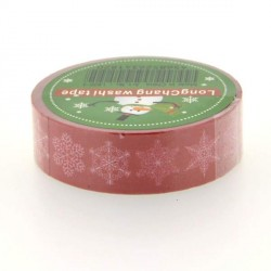 Masking Tape doubles Flocons rouges - 15 mm x 10 m
