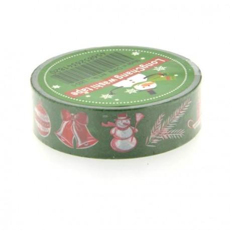Masking Tape Symboles Noël verts - 15 mm x 10 m