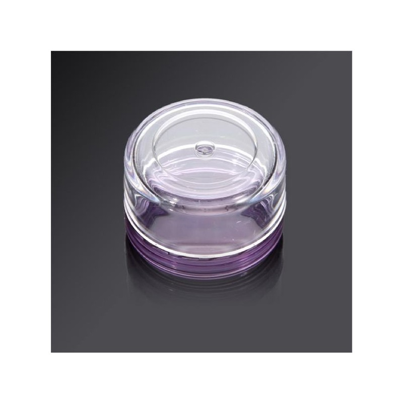 petit pot en plastique 5 gr violet transparent