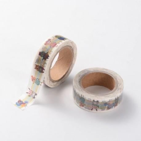 Masking Tape Frise enfantine - 15 mm x 10 m