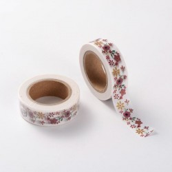 Masking Tape Frise fleurs - 15 mm x 10 m