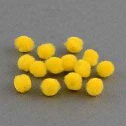 Pompons 12 mm jaunes, 10 pièces