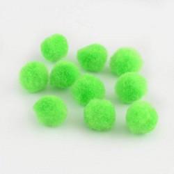 Pompons 20 mm verts clairs, 10 pièces
