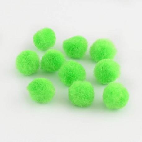 Pompons 25 mm verts clairs, 10 pièces