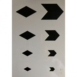 Gabarit de découpe Fanions 21 x 15 cm
