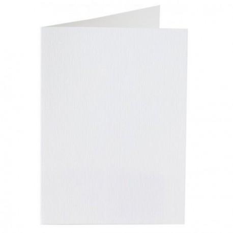 Carte double A6 105 x 148 mm - blanc neige