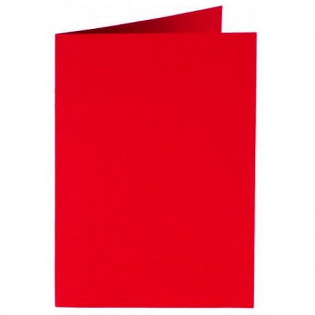 Carte double A6 105 x 148 mm - rouge