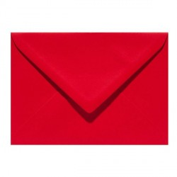 Enveloppe C6 114 x 162 mm - rouge
