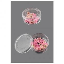 Boite de Fleurs séchées rose clair 9mm - 20 pièces