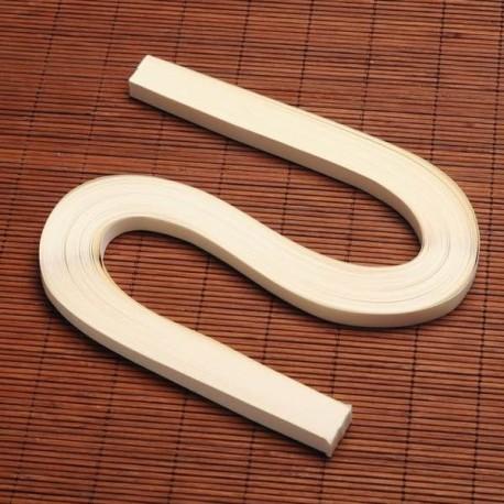 120 Bandes papier pour Quilling - 10 mm - crème