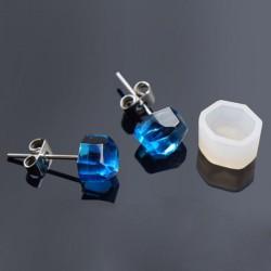 Moule silicone pour résine Boucle d'oreille Hexagone