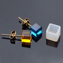 Moule silicone pour résine Boucle d'oreille Carré