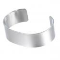 Bracelet manchette plat 18 cm, largeur 2 cm