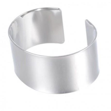 Bracelet manchette plat 17,5 cm, largeur 3 cm
