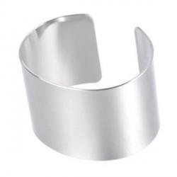 Bracelet manchette plat 17,5 cm, largeur 3,5 cm