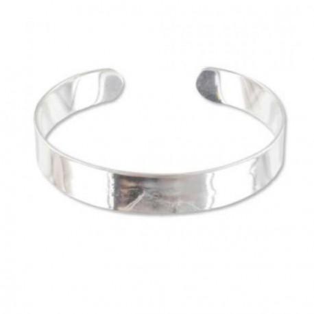 Bracelet manchette plat 17 cm, largeur 9 mm