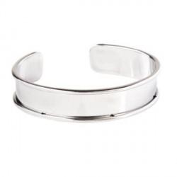 Bracelet manchette avec rebord 18 cm, largeur 1,5 cm