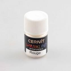 Poudre mica Cernit Sparkling Interference Rouge - 5 gr