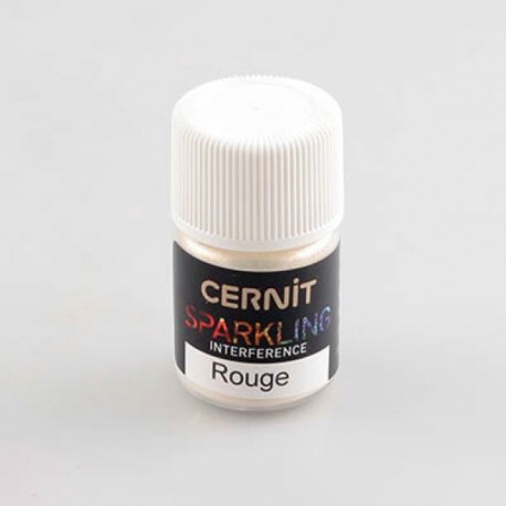 Poudre mica Cernit Sparkling Interference Rouge - 5 gr