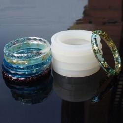 Moule silicone pour résine Bracelet à facettes 7,2 cm