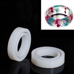 Moule silicone pour résine Bracelet épais 8,3 cm