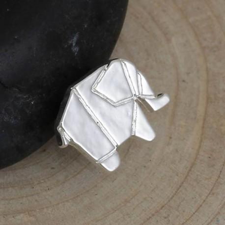 Pendentif breloque en métal Origami Eléphant
