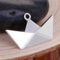 Pendentif breloque en métal Origami Bateau