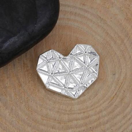 Pendentif breloque en métal Origami Coeur