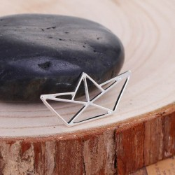 Pendentif breloque en métal Origami ajouré Bateau