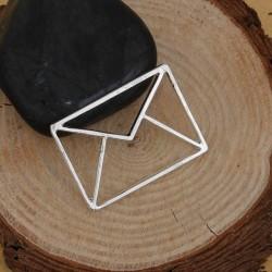 Pendentif breloque en métal Origami ajouré Enveloppe