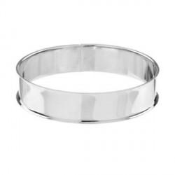 Bracelet avec rebord 21,5 cm, largeur 1,55 cm, argenté