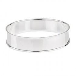 Bracelet avec rebord 21,5 cm, largeur 1,55 cm, argenté clair