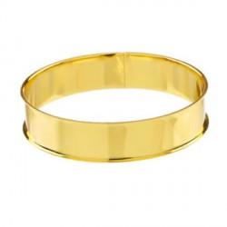 Bracelet avec rebord 21,5 cm, largeur 1,55 cm, doré