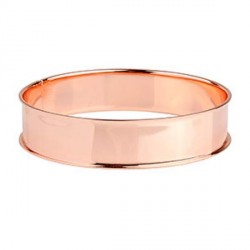 Bracelet avec rebord 21,5 cm, largeur 1,55 cm, doré rosé