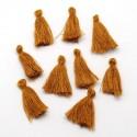 Pendentif Pompon en coton, marron 3 cm