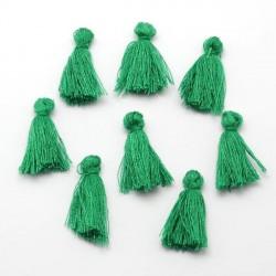 Pendentif Pompon en coton, vert 3 cm