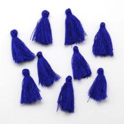 Pendentif Pompon en coton, bleu foncé 3 cm