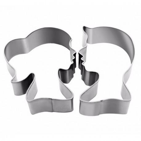 Emporte-pièces métalliques Têtes Homme et Femme