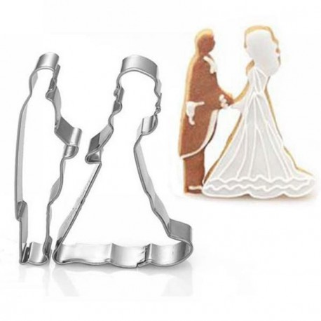 Emporte-pièces métalliques Couple de Mariés