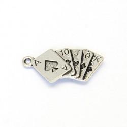 Pendentif breloque en métal Jeu de cartes