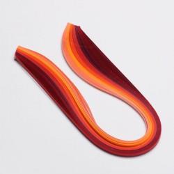 120 Bandes papier pour Quilling - 5 mm - dégradé rouge
